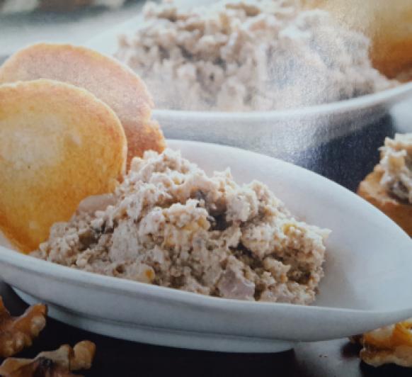 Paté de nueces y champiñones