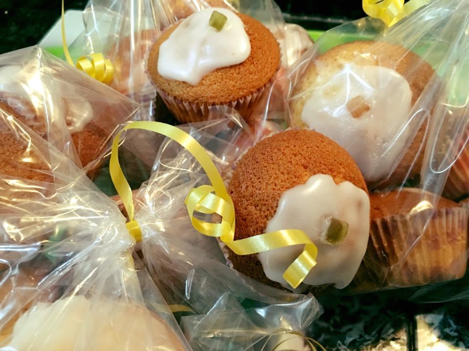 Magdalenas de limón y nata