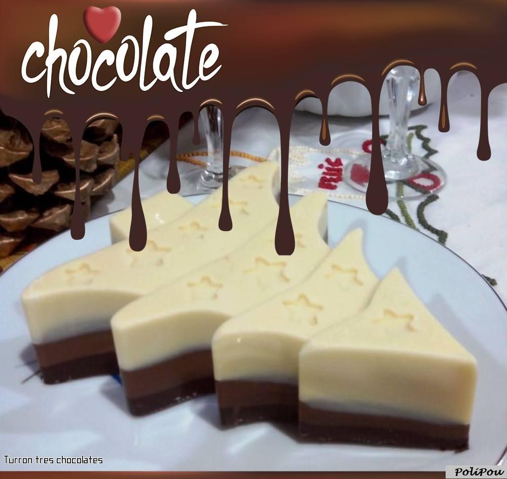 Turron tres chocolates