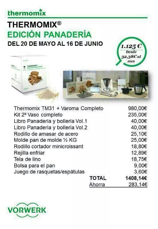 Thermomix® EDICION PANADERIA hasta el 16 de Junio 2014