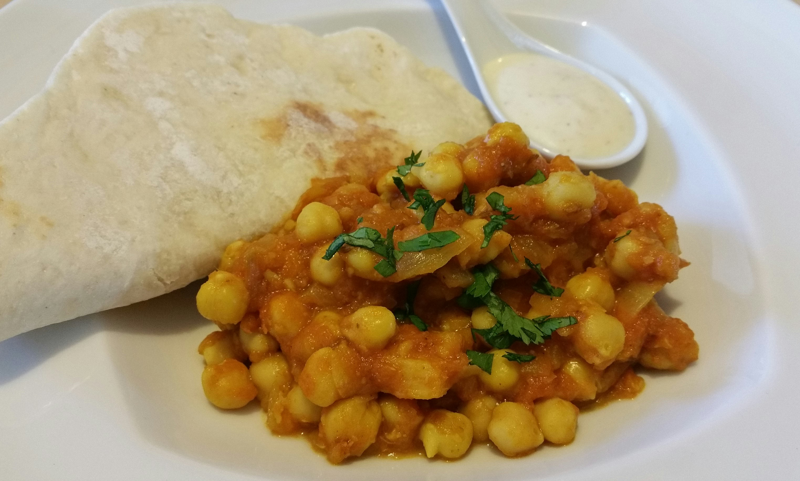 Curry de garbanzos, con Thermomix®