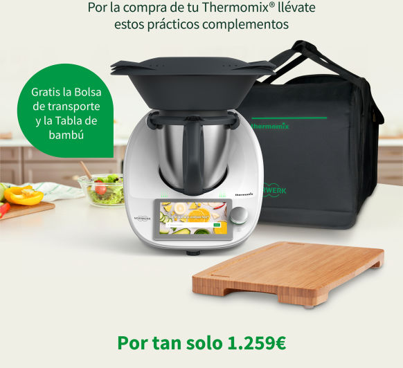 DISFRUTA DEL Thermomix® POR 39.20 EUROS AL MES.
