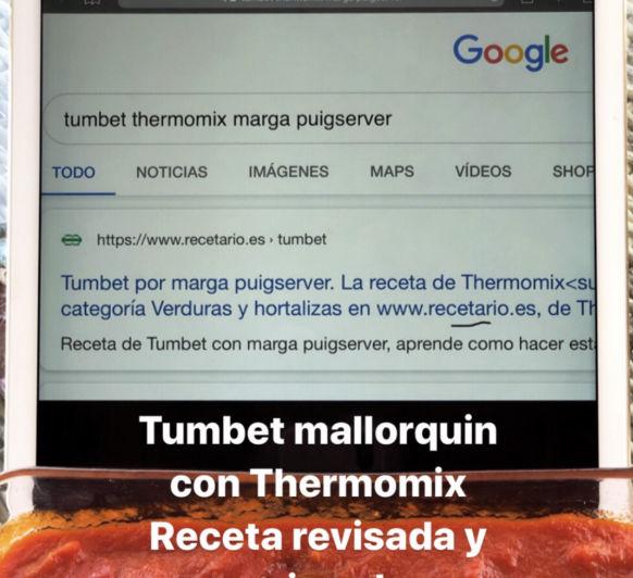 Receta ' TUMBET MALLORQUIN'
