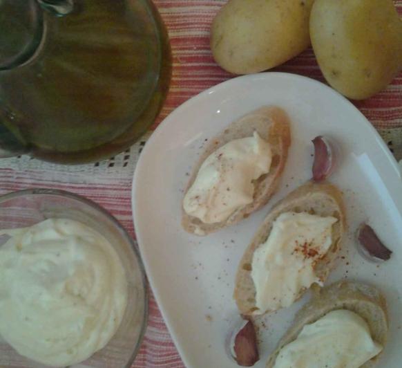 Alioli de patata.
