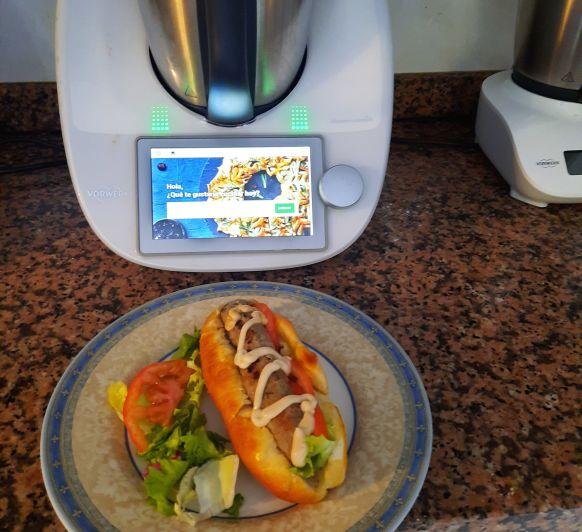 hot dog gourmet de pescado