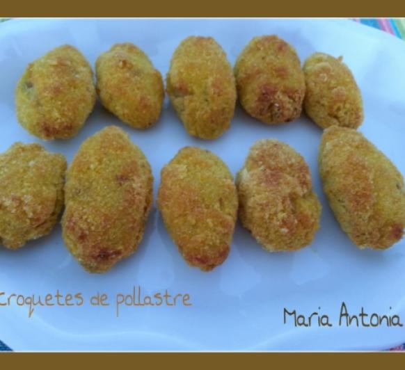 Croquetas de pollo con polenta