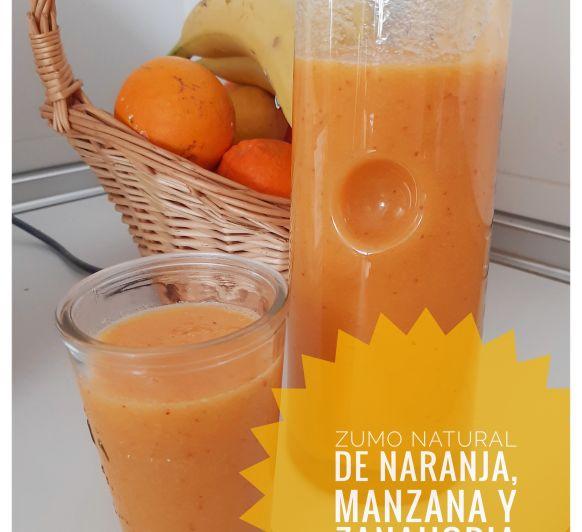 Zumo de zanahorias, naranja y manzana