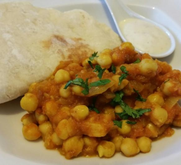 Curry de garbanzos, con Thermomix®