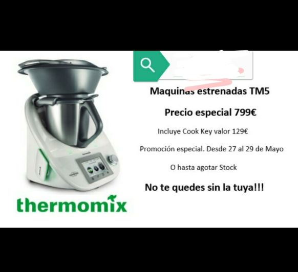Thermomix® TM5 con Cook Key a 799 €. Promo Express