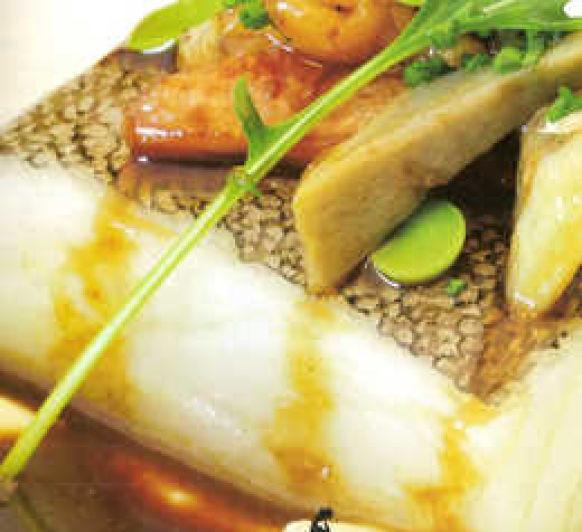 sandwich de hojaldre con bacalao confitad