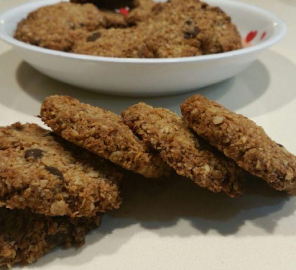 Cookies de avena, coco y pepitas de chocolate, con Thermomix®