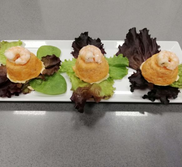 Mini pasteles de pescado y marisco