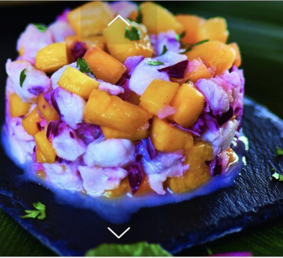 Tartar de dorada al mango