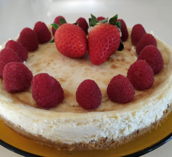 Tarta de queso o cheesecake baja en carbohidratos, con Thermomix®